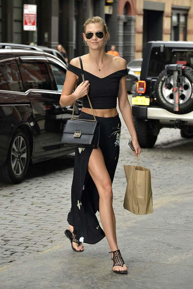 Kloss's complete look is buy Reformation, it's our new favorite brand.