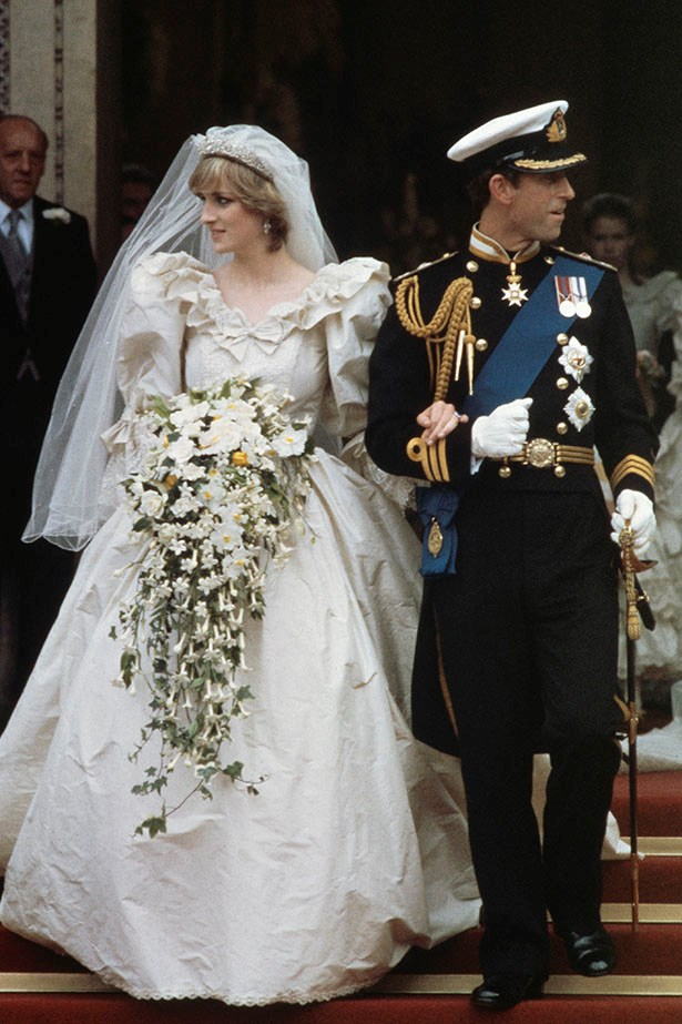 There's a lot one can say about Diana's wedding to Charles in 1981. Focusing on the dress, it had a record-breaking 25 foot long train.
