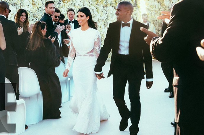 The wedding of the century? Probably. West joined the Kardashian Klan in a pretty speccy event in Forte di Belvedere in Florence, Italy.