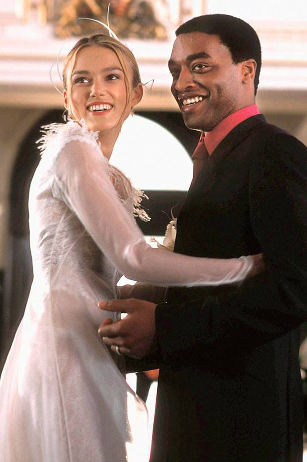 Whatever your thoughts on Love Actually (adore it and watch every Christmas? Hate it, actually?) the wedding scene AND Keira Knightley's cute long-sleeve dress are both very sweet.