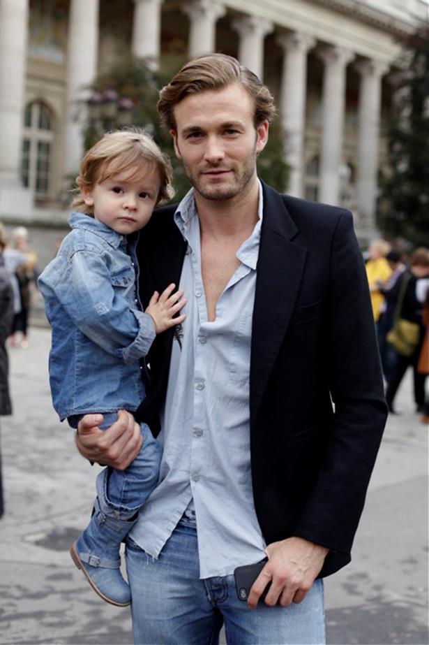 Hudson with dad, Brad.