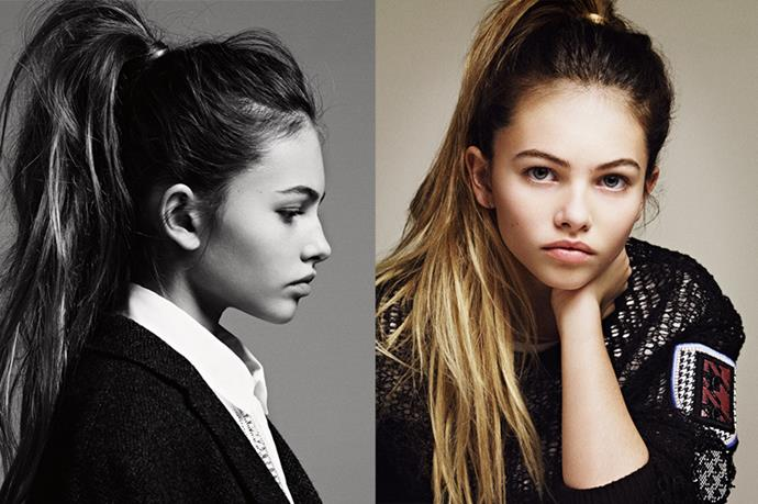 Thylane Blondeau has been modeling since 4, when she walked for Jean Paul Gaultier. She has since modeled for Jalouse, Vogue Paris and Teen Vogue.