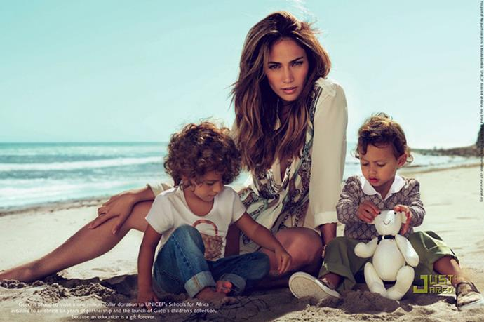 JLo's twins, Max and Emme, starred in her Gucci campaign.
