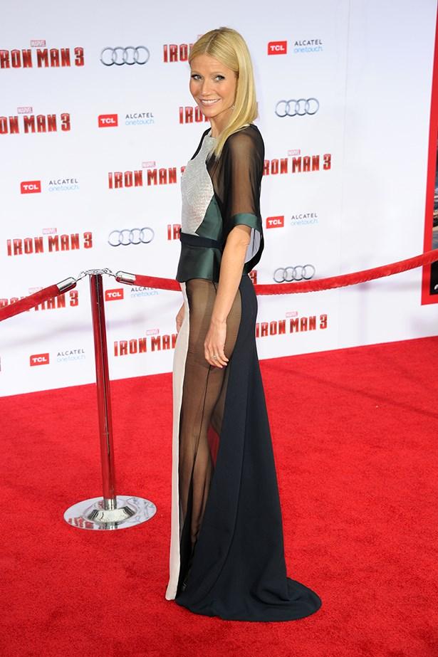 "Gwyneth Paltrow pretty much created the phrase ""side butt"" with this Antonio Berardi dress."