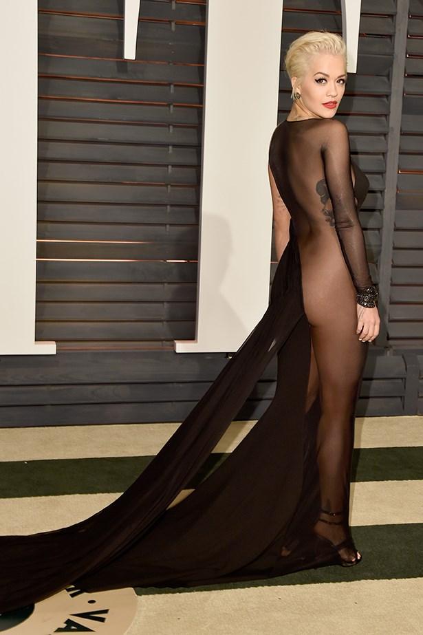 Rita Ora took it to the next level in her Donna Karan dress.