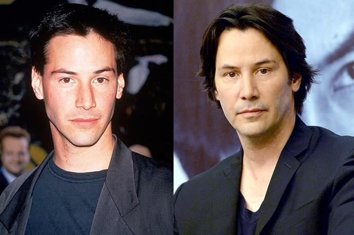 Keanu Reeves, 1994 and 2013.