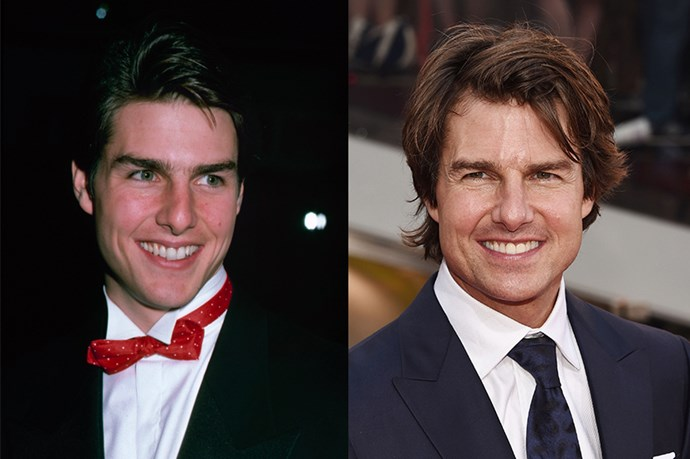 Tom Cruise, 1988 and 2015.