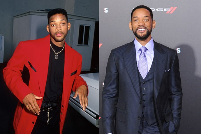 Will Smith, 1994 and 2015.