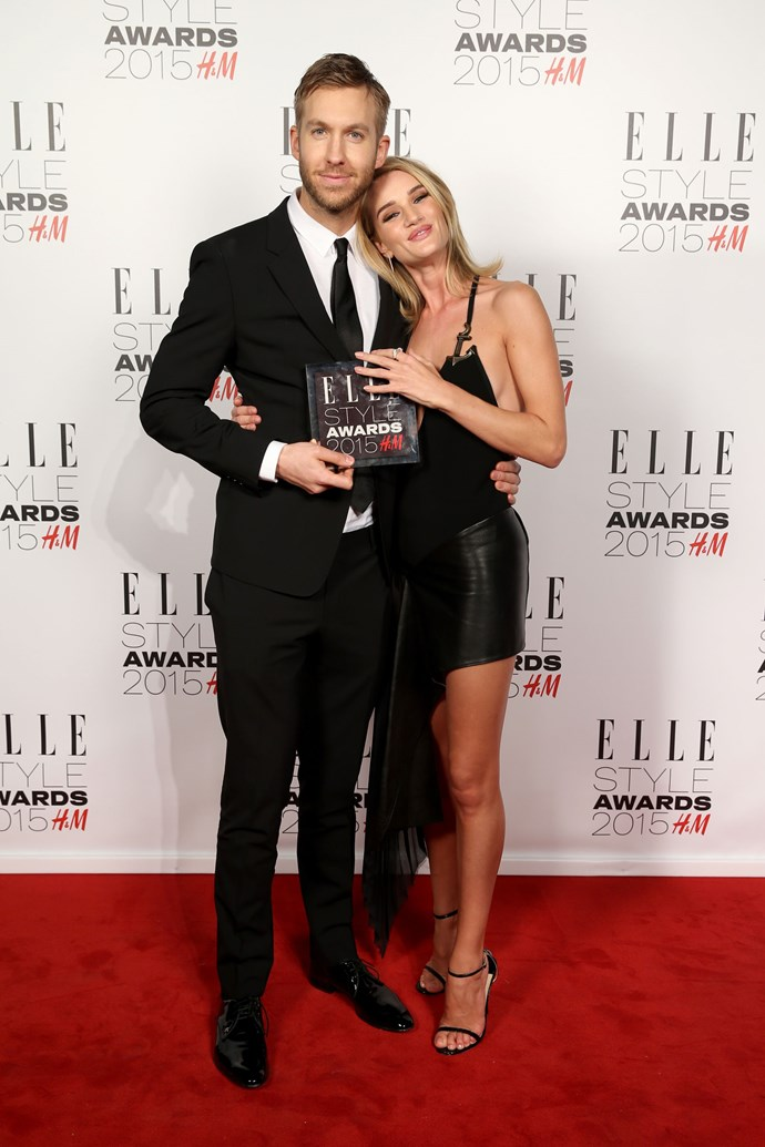 FEBRUARY 24, 2015<br><br> And can stand next to the possibly not human Rosie Huntington-Whiteley and hold his own. <br><br> GETTY