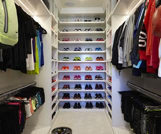 See inside Khloé Kardashian's fitness closet