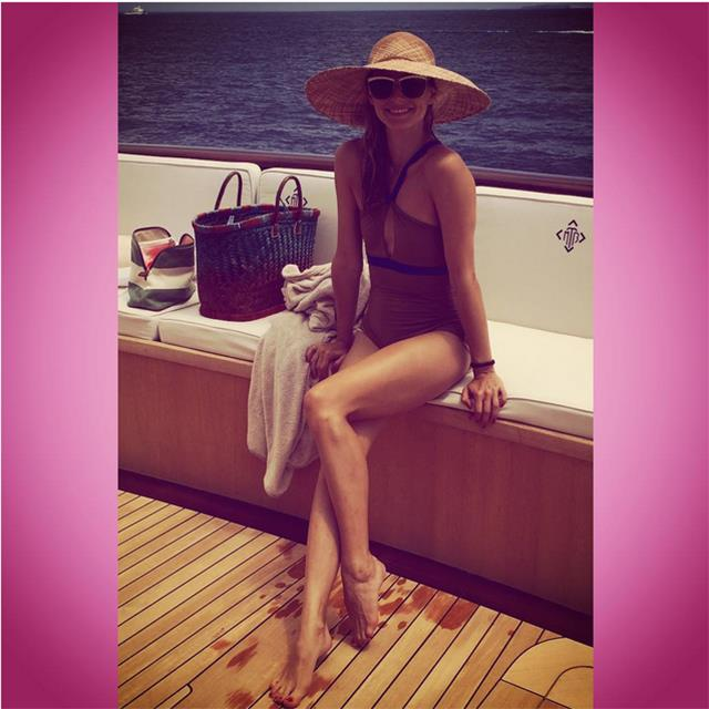 @oliviapalermo Morning swim! #lovefloaties #bestexercise  #loveaonepiece #tmblue2015