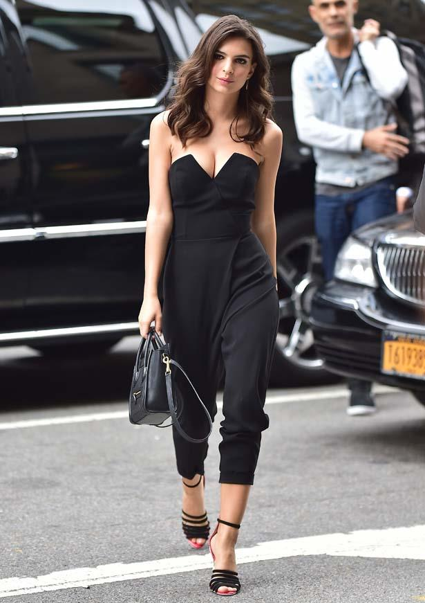 Just one of her many killer jumpsuit outfits.