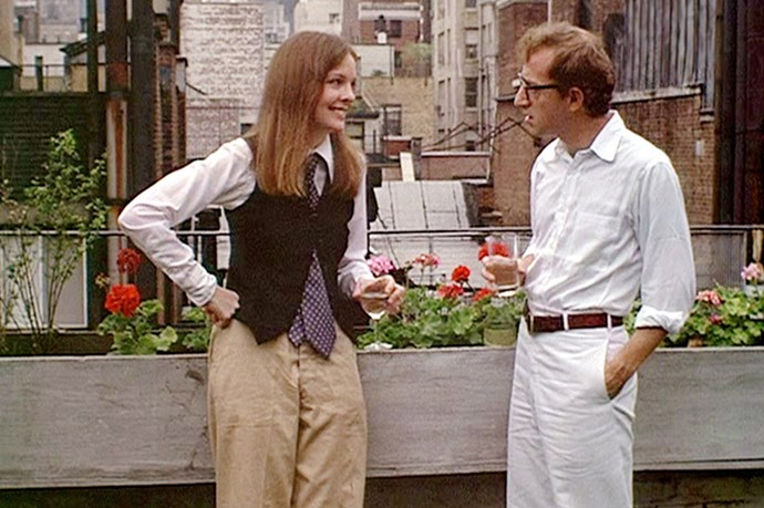 Diane Keaton in Annie Hall, the waistcoats, the slacks, the casual mannish style. So great.