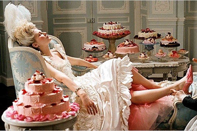 Marie Antoinette gave us the ultimate in frou frou excess. Let them eat cake indeed (even she probably didn't actually say in real life).