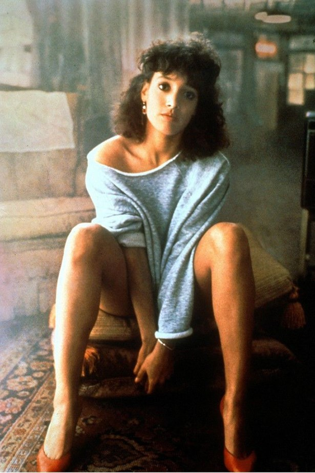 Flash Dance – Jennifer Beals in that one-shoulder sweatshirt basically summing up every outfit worn in the 80s ever.