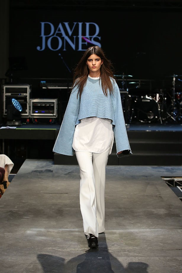 A model showcases designs by Ellery on the runway at the David Jones Spring/Summer 2015 Fashion Launch at David Jones Elizabeth Street Store on August 5, 2015 in Sydney, Australia.  (Photo by Brendon Thorne/Getty Images for David Jones)