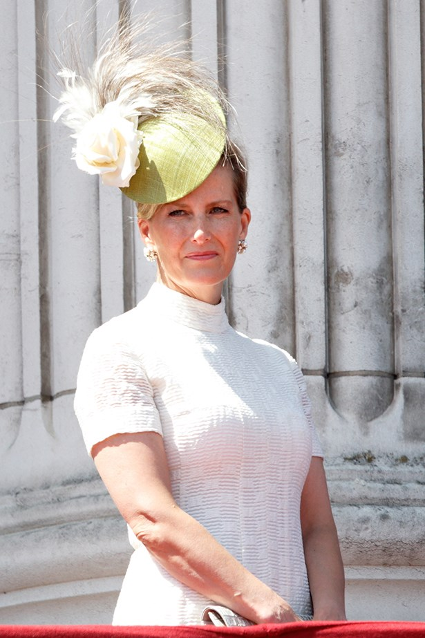 4. H. R. H the countess of Wessex, strong fascinator game.