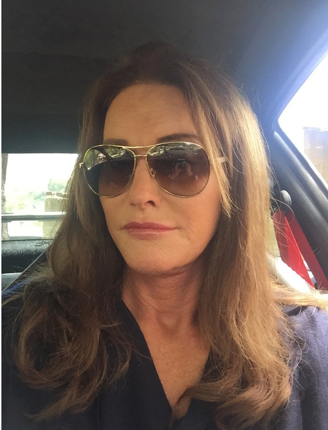 Caitlyn Jenner has made another milestone, taking her first selfie. She captured this one, No #SocialMediaQueen can be crowned without posting a selfie, so here's my first! #TeenChoice http://www.whosay.com/l/tuQaSXJ. Sounds like she's taking to social media like a true Kardashian/Jenner.