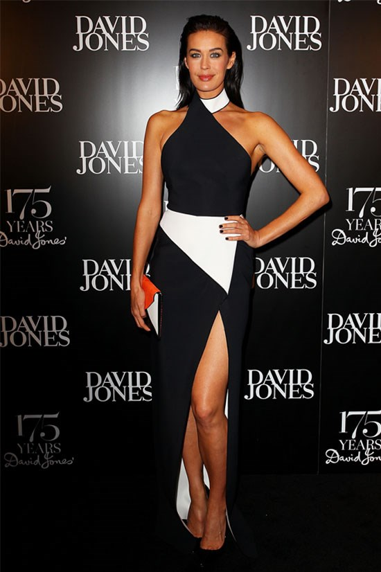 Megan Gale at David Jones' 175th birthday, 2013.
