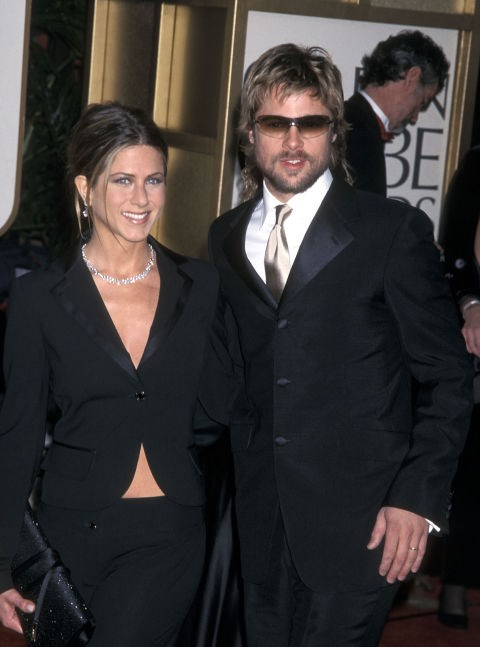 JANUARY 20, 2002 Tuxedo jackets with Brad Pitt.