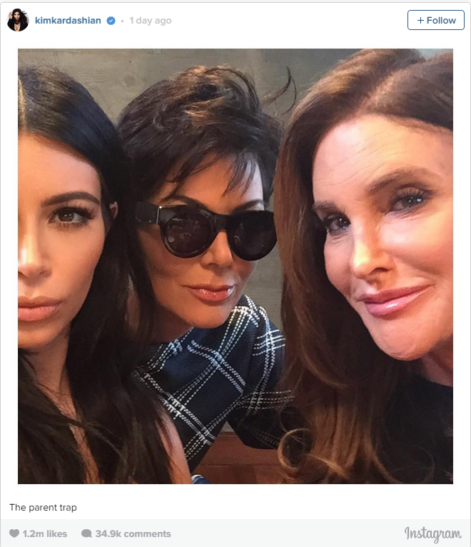 Even Kris and Caitlyn got in on the action. (Leave it to Kim to bring people together via selfie.)