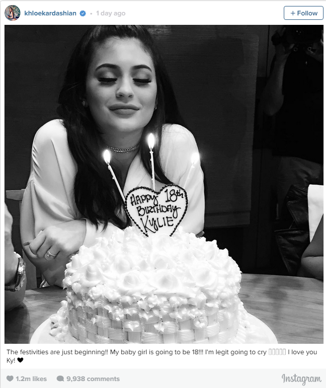 So what did the newly-legal Jenner wish for when she blew out her birthday candles?