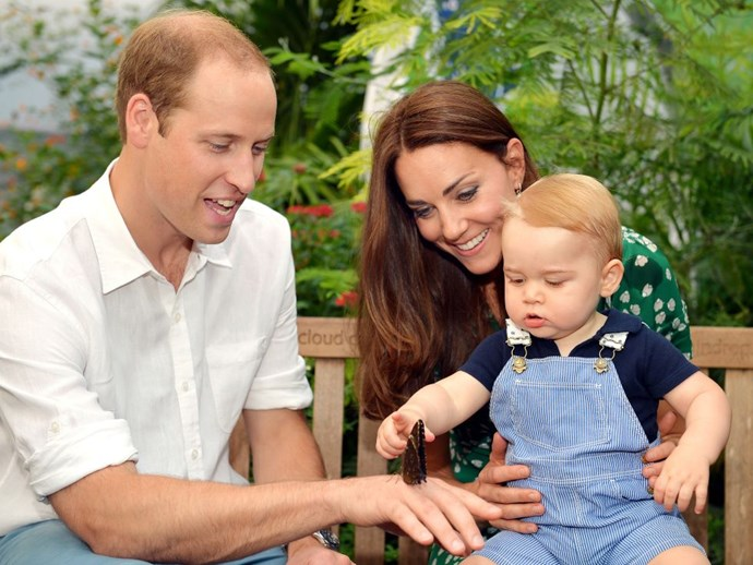 PRINCE GEORGE *Can't touch this.* (Just kidding, it's PRINCE George, he can touch anything he wants.) GETTY