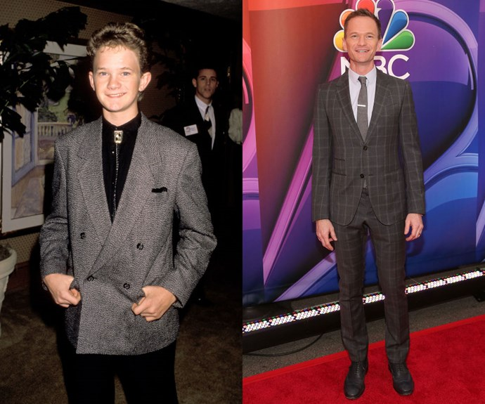 NEIL PATRICK HARRIS <em>Then: </em>At the Great American Road Rally Benefit Second Chance And Bread For Life on November 10, 1989</p> <p><em></em><em>Now: </em>At the 2015 NBC Upfront Presentation</p>