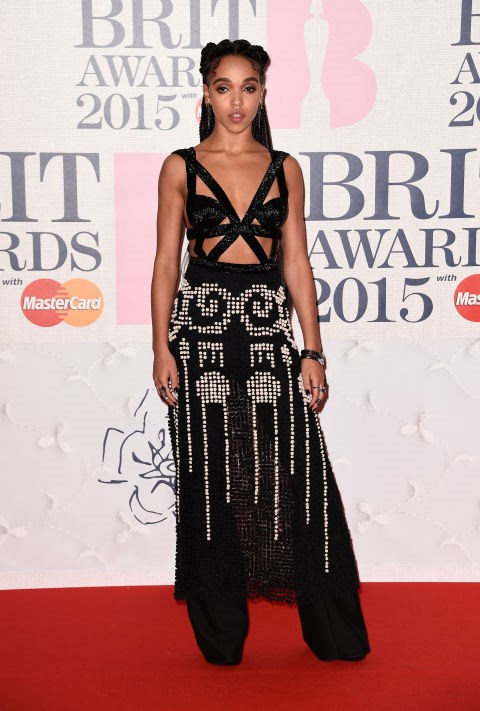 <strong>FEBRUARY 25, 2015</strong> <BR> In an Alexander McQueen dress attending the BRIT Awards 2015.