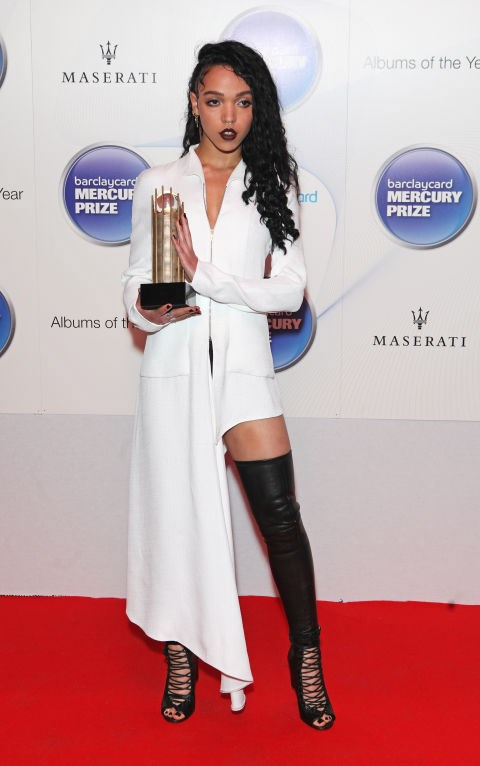<strong>OCTOBER 29, 2014</strong> <BR> Wearing Balenciaga at the Barclaycard Mercury Prize.