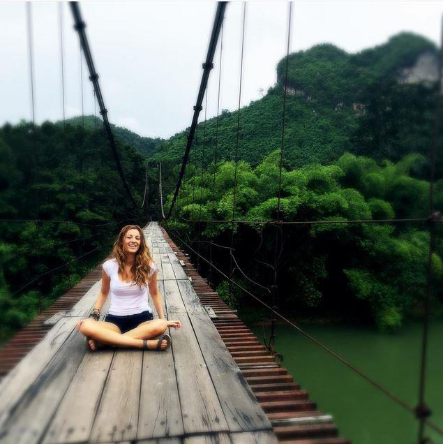 """<strong>BLAKE LIVELY</strong> <BR> """"I've said before I hate the gym. I eat chocolate; yes, that part is true. But what they don't print is I hate the gym, so what I do instead is find other ways to be active: I ride bicycles, I hike, I go out and exercise in nature, and I'm active that way."""" <BR> —to <em>PopSugar</em>"""