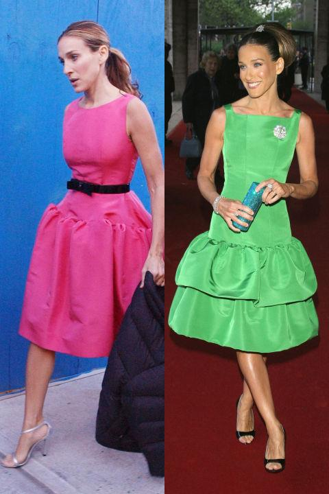 BRIGHT DROP-WAIST DRESS TWINS GETTY