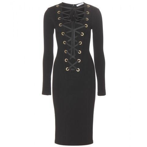 Givenchy Lace-Up Jersey Dress, $2,475; mytheresa.com