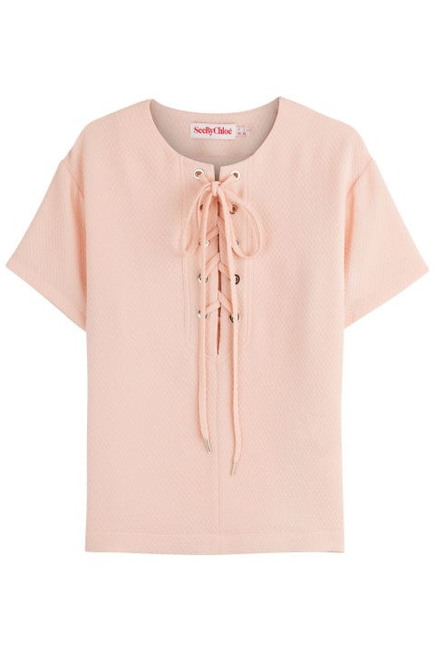 See by Chloé Lace-Up Front Top, $206; stylebop.com