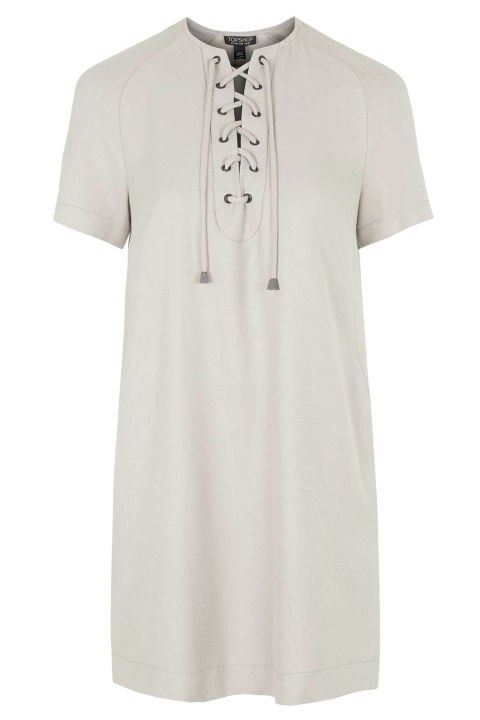 Topshop Lace Front Dress, $90; topshop.com
