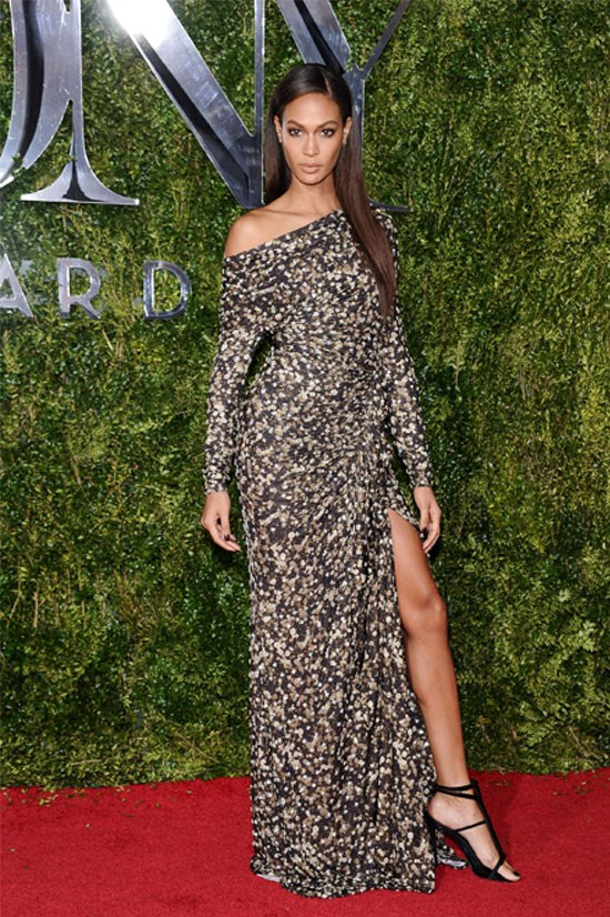 Joan Smalls at the 69th Annual Tony Awards, June 2015.