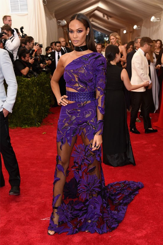 Joan Smalls at the Met Gala this year, May 2015.