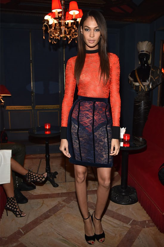Joan Smalls at the Balmain Aftershow Dinner, March 2015.