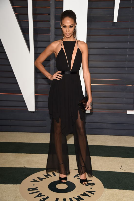Joan Smalls at the 2015 Vanity Fair Oscar Party, February 2015.