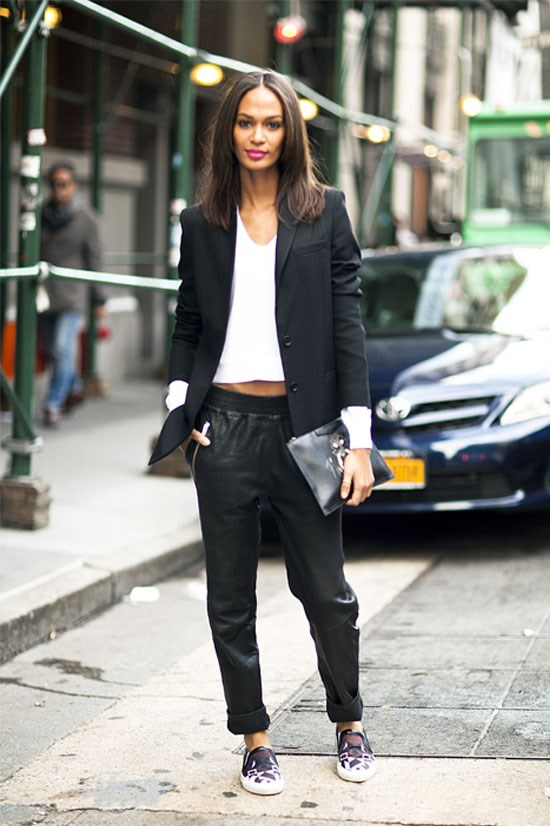 Joan Smalls spotted in New York, August 2014.