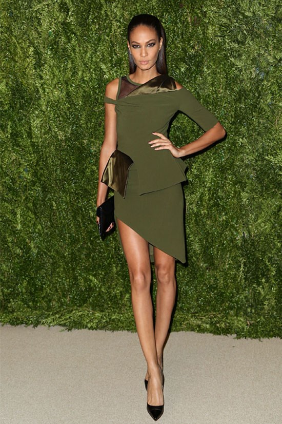 Joan Smalls at the CFDA and Vogue 2013 Fashion Fund Finalists Celebration, November 2013.