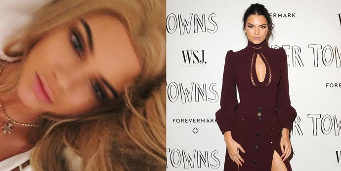 """<p> <strong>Kendall Jenner</strong></p> <p>Is Kendall Jenner channeling her inner Barbie? More pressingly, has she gone blonde? She captioned the Instagram post """"Ken-doll"""" and while it might just be a wig, we're enjoying the switch to the lighter side. </p>"""