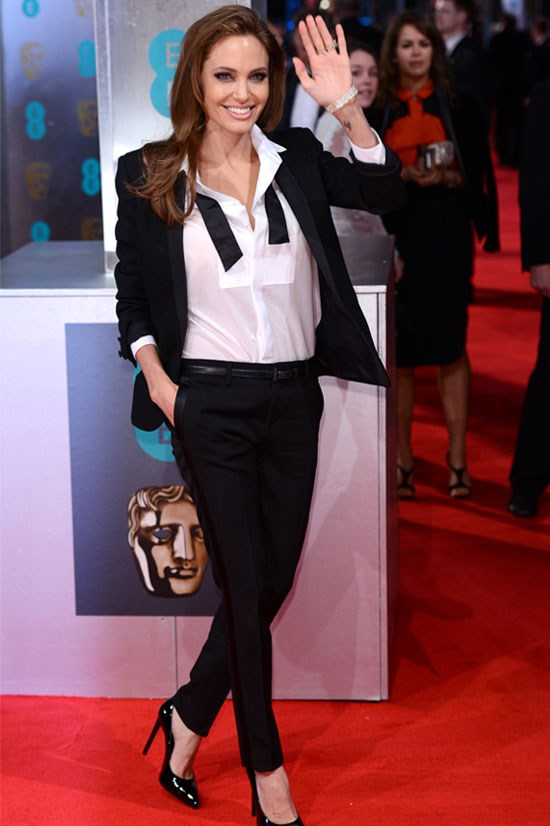 <strong>Angelina Jolie</strong> at the 2014 BAFTAs.