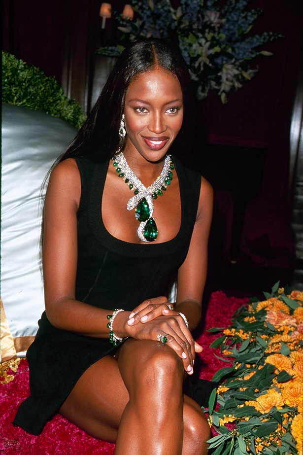 Naomi Campbell always a bad ass, and never afraid of a statement piece.