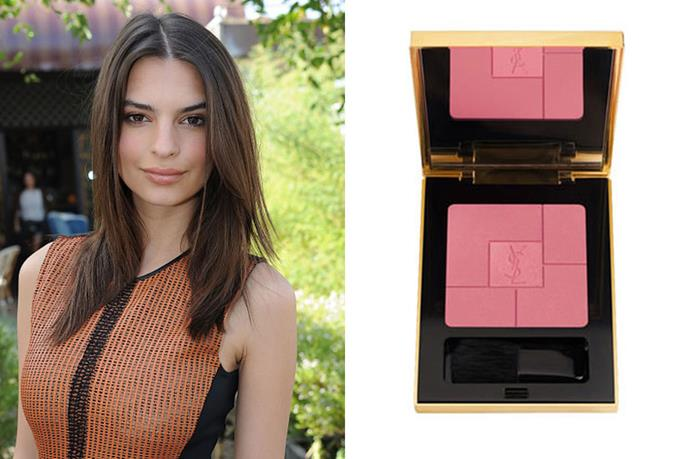 "<strong>If you're olive, but cool...</strong> <br> <br> Darker skin that is on the cooler side pairs perfectly with a rich, rose blush. <br> <br> We love:<a href=""http://mecca.com.au/yves-saint-laurent/blush-volupte-heart-of-light-blush/V-019830.html?cgpath=brands-ysl-all#start=1""> Blush Volupte in Light 2, YSL</a>"