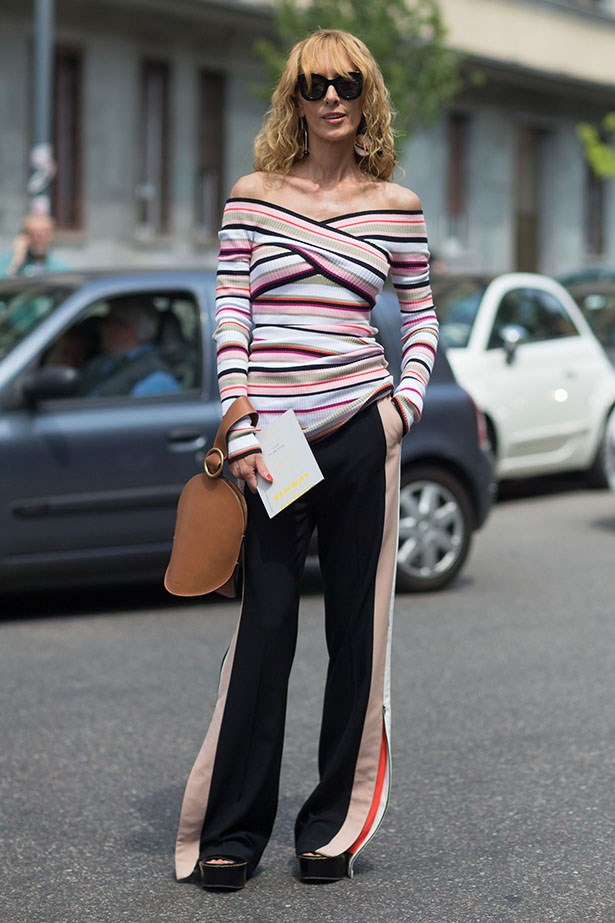 Stripes make for a playful take on the look.