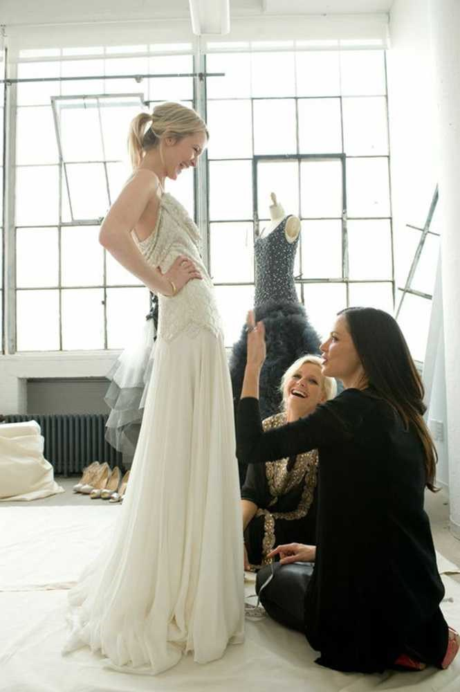 Designer Georgina Chapman, Marchesa 'A wedding dress is probably the most emotionally significant dress that a woman will ever wear, so it's quite a big responsibility to make sure it's exactly what the bride wants. Each bride requires something different – I've even been asked to make a waterproof wedding dress.'