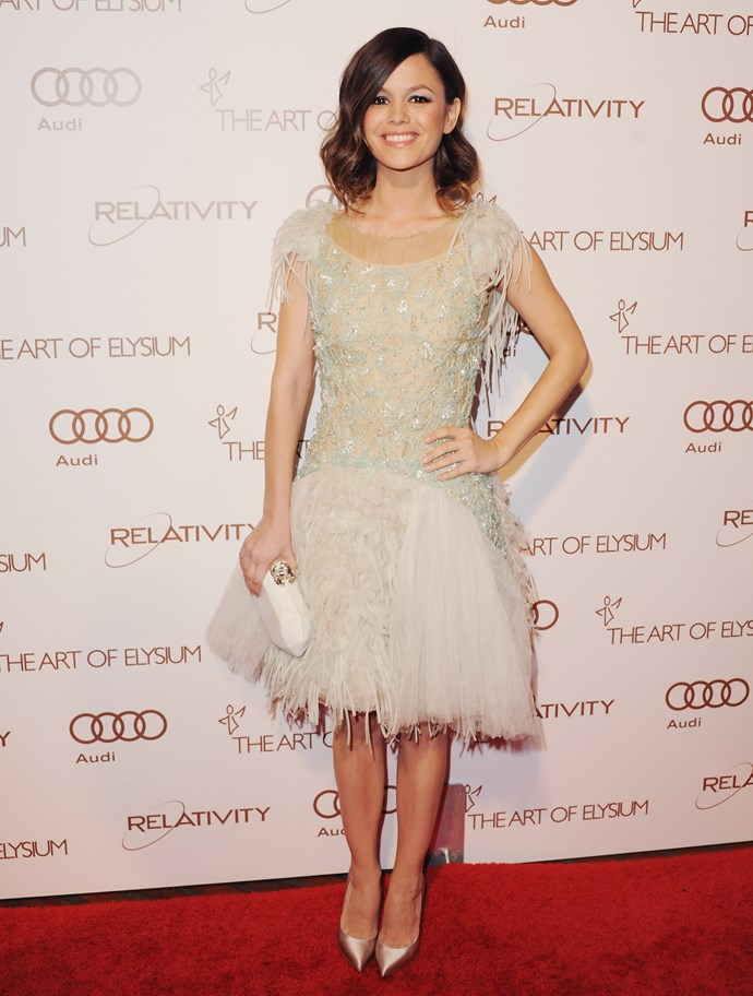 Actress Rachel Bilson arrives at the Art Of Elysium's 5th Annual Heaven Gala at Union Station on January 14, 2012 in Los Angeles, California.