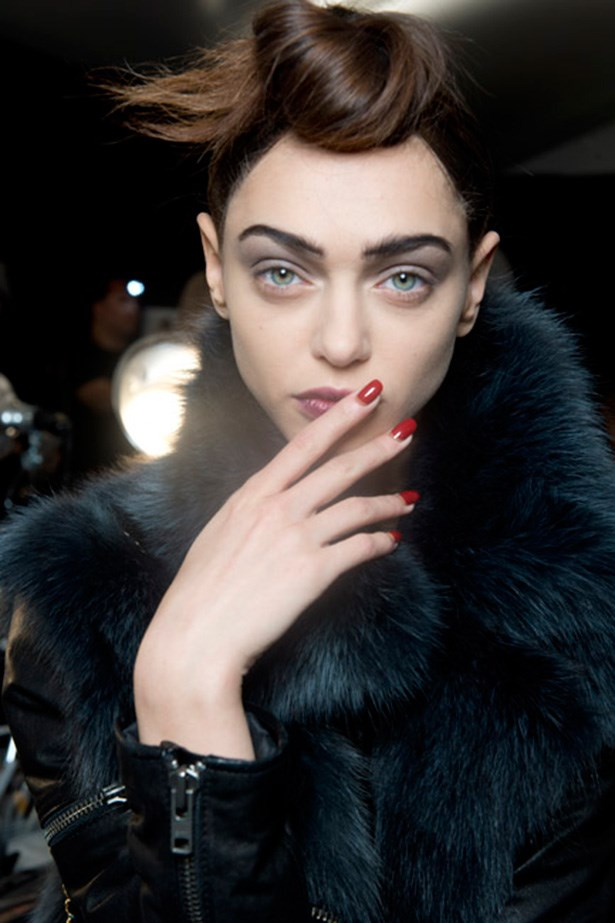 <strong>Reverse French Manicures </strong> <br> <br> Fun yet sophisticated; update the classic with half-moons at the cuticle and a colour combo of your choice. While jewel-tones were all the rage at the 2015 Autumn/Winter shows, let the world be your oyster and colour match to your fancy. <br> <br> <em>See at: Marc Jacobs</em>