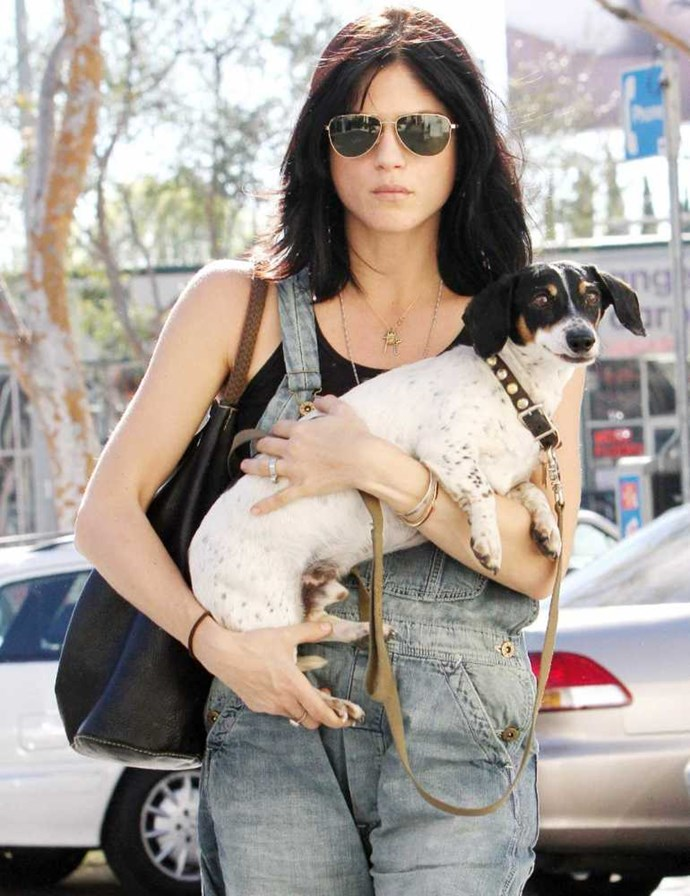 Selma Blair and her dog Wink.